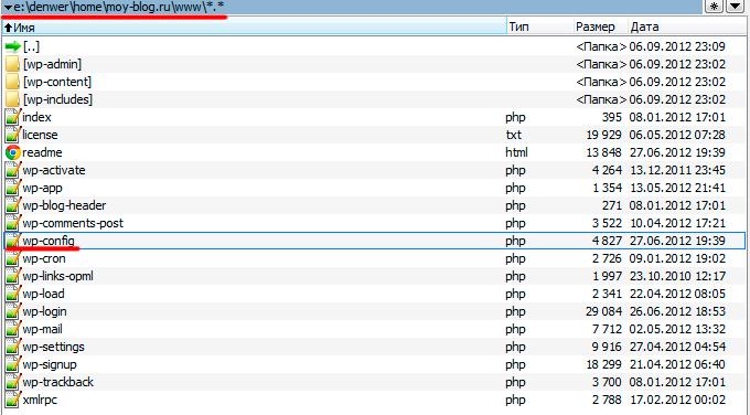 Вид распакованных файлов
