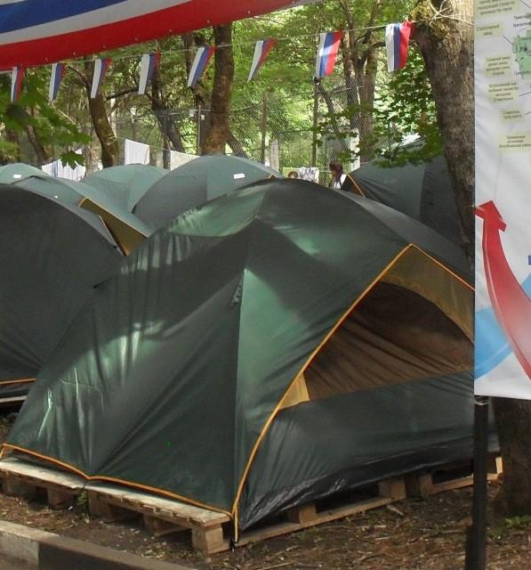палатки на машуке