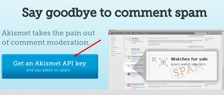 Akismet api key for free