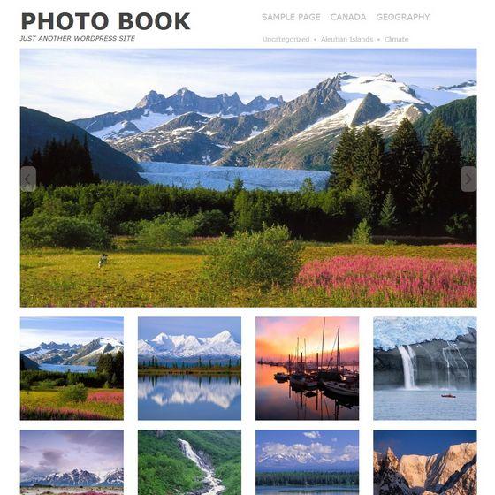 Бесплатный шаблон для WordPress для фото блога