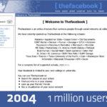 История изменения дизайна FaceBook 2004-2012