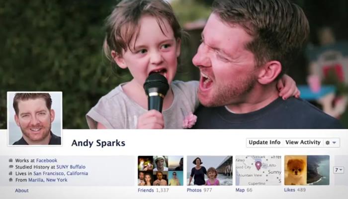 Дизайн FaceBook в 2011 году