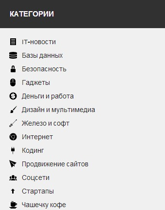 Отображение иконок к меню в WordPress
