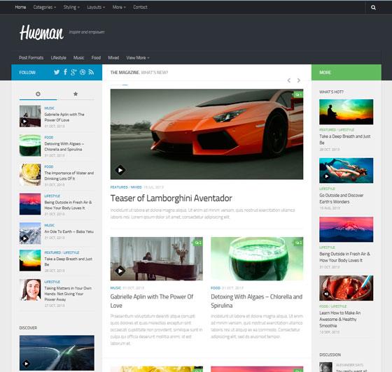 Блоговый шаблон для WordPress