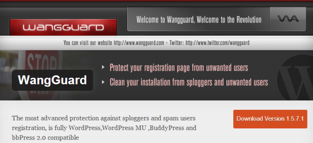 Скачать WangGuard для BuddyPress